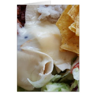 Melted Cheese Nacho Funny Food Card