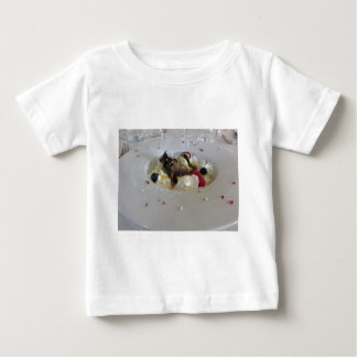 Melted chocolate ball with zabaglione cream baby T-Shirt