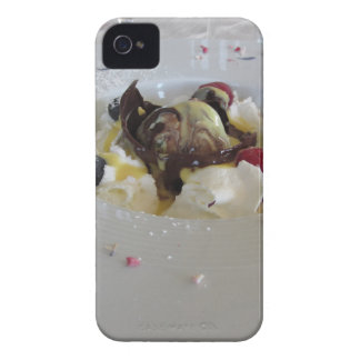 Melted chocolate ball with zabaglione cream iPhone 4 cases