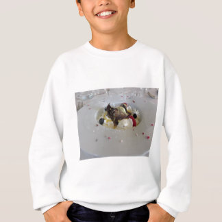 Melted chocolate ball with zabaglione cream sweatshirt