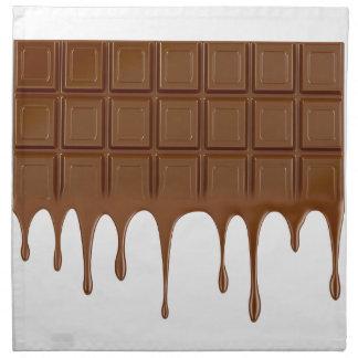 Melted chocolate bar napkin
