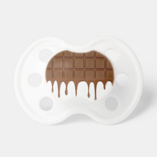 Melted chocolate bar pacifier
