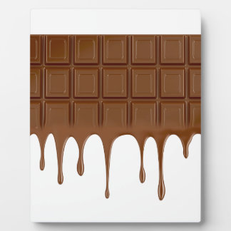 Melted chocolate bar plaque