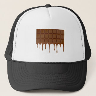 Melted chocolate bar trucker hat