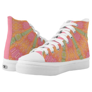 Melted Citrus Abstract Print 2 High Tops