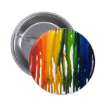 Melted Crayon on canvass Pinback Button
