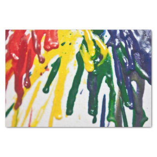 Melted crayon tissue paper