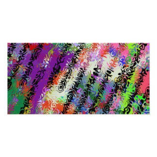 Melted Crayons Abstract Photo Cards
