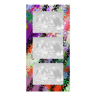 Melted Crayons Abstract Personalized Photo Card