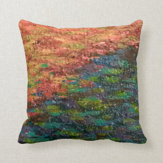 Melted Crayons Throw Pillow