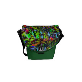 Melted Glass Messenger Bags