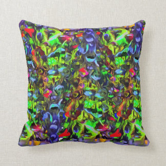 Melted Glass Throw Pillow