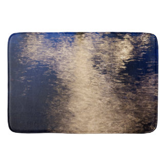 Melted gold abstract Bath Mat