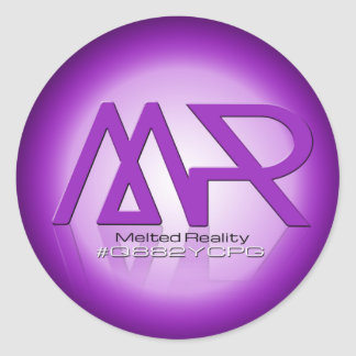 Melted Reality Round Sticker