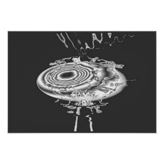 Melted Silver Abstract Poster