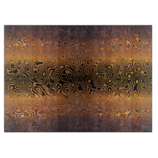 Melted Tiger - Black and Bronze Abstract Boards