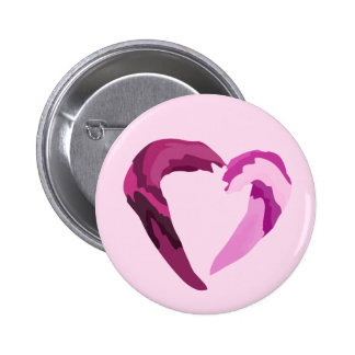 melthing purple heart pinback button