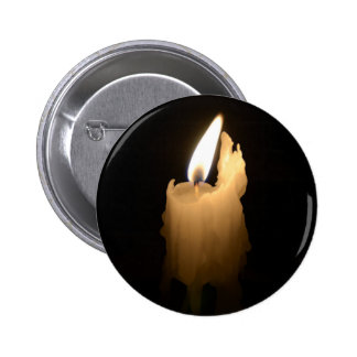 Melting Candle 2 Inch Round Button