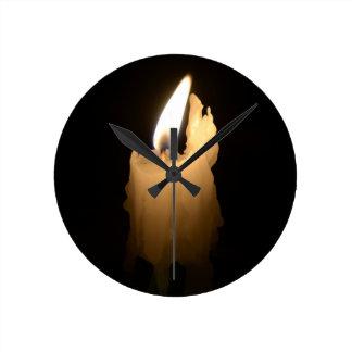 Melting Candle Wallclock