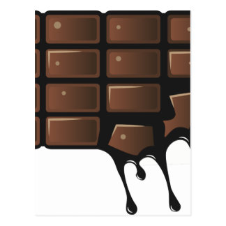 Melting Chocolate Postcard