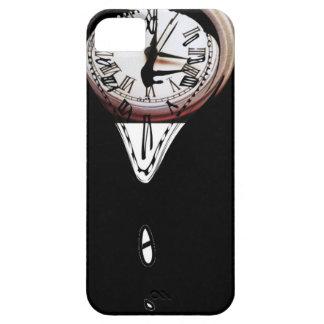 Melting Clocks surreal art black white iPhone 5 Cover