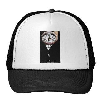 Melting Clocks surreal art black white Trucker Hat