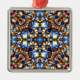 Melting Colors Metal Ornament
