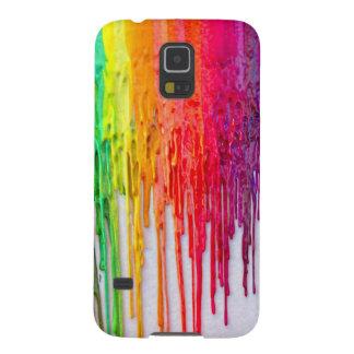 melting crayons galaxy phone case