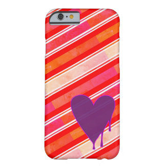 Melting Heart Purple Barely There iPhone 6 Case