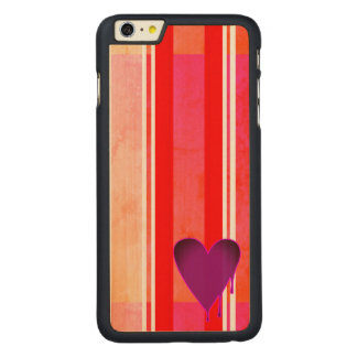 Melting Heart Purple Carved Maple iPhone 6 Plus Case