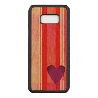 Melting Heart Purple Cherry Hardwood Carved Samsung Galaxy S8+ Case
