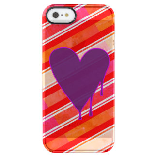 Melting Heart Purple Clear iPhone SE/5/5s Case