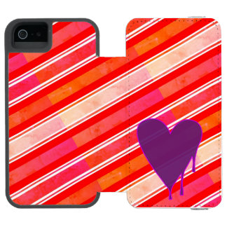 Melting Heart Purple Incipio Watson™ iPhone 5 Wallet Case