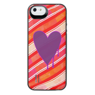 Melting Heart Purple iPhone SE/5/5s Battery Case