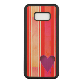 Melting Heart Purple Maple Hardwood Carved Samsung Galaxy S8+ Case