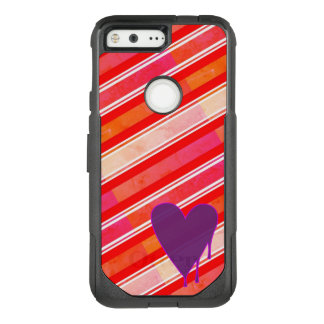 Melting Heart Purple OtterBox Commuter Google Pixel Case