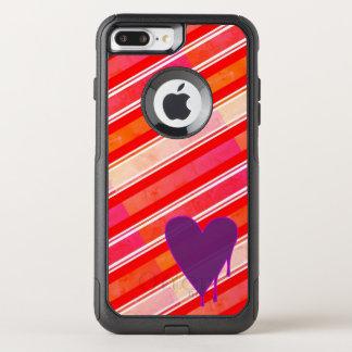 Melting Heart Purple OtterBox Commuter iPhone 8 Plus/7 Plus Case