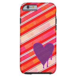 Melting Heart Purple Tough iPhone 6 Case