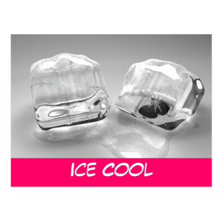 Melting ice cubes postcard