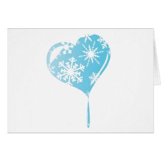 Melting Ice Heart Card