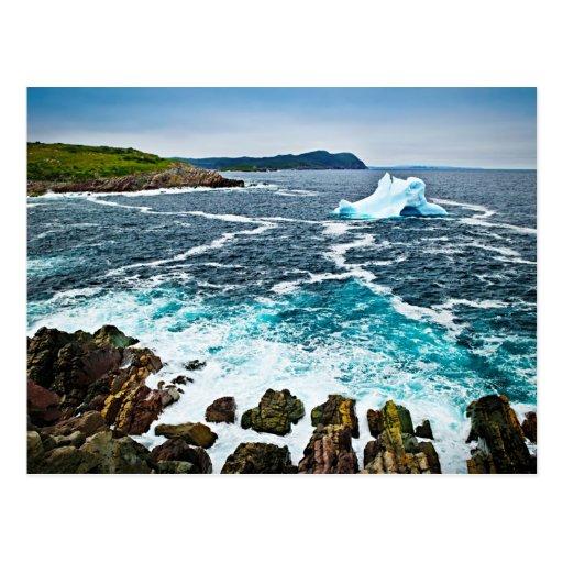 Melting iceberg post cards