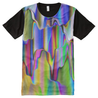 Melting Rainbow Colors Psychedelic Hippy Colorful