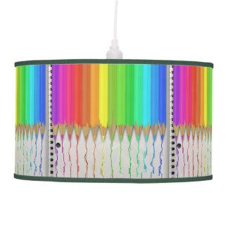 Melting Rainbow Pencils Ceiling Lamps