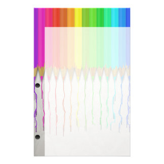 Melting Rainbow Pencils Stationery Design