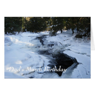 Melting Snow Card