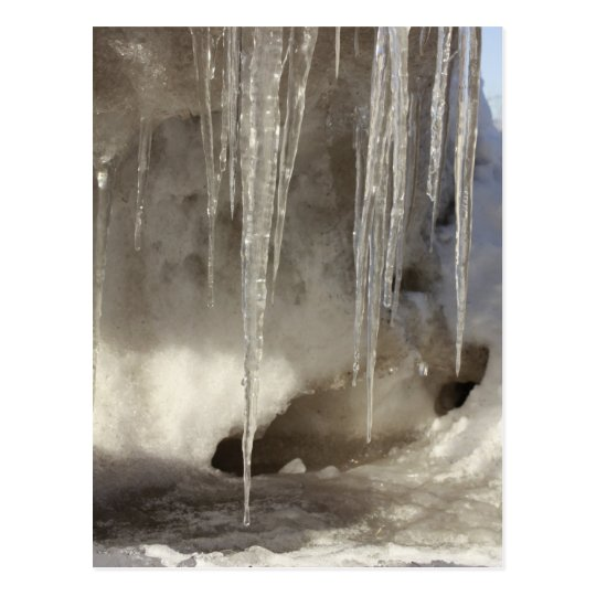 Melting Snow Postcard