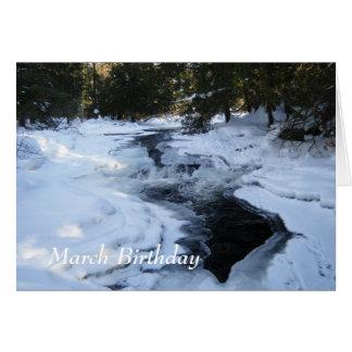 Melting Snow Scene-March Birthday Card