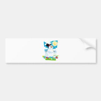 Melting Snowman Bumper Sticker