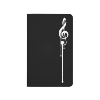 MELTPOINT BLACK Hot White G-Clef 'Il Maestro' Journals
