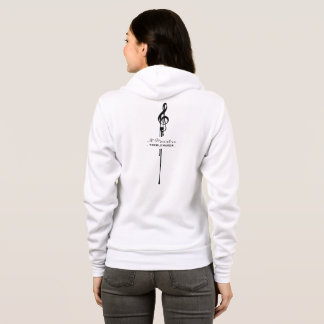 MELTPOINT WHITE Black G-Clef Maestro Treble Maker Hoodie